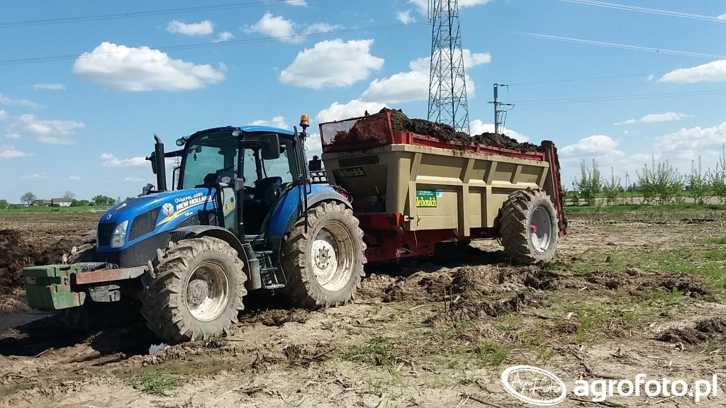 New Holland T5.95 & Leboulch HVS 417 Maxi