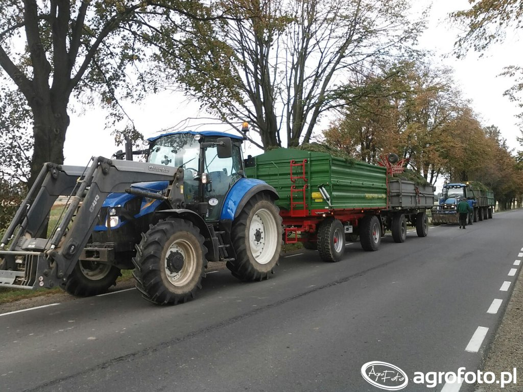New Holland T5.95 & Pronar PT610