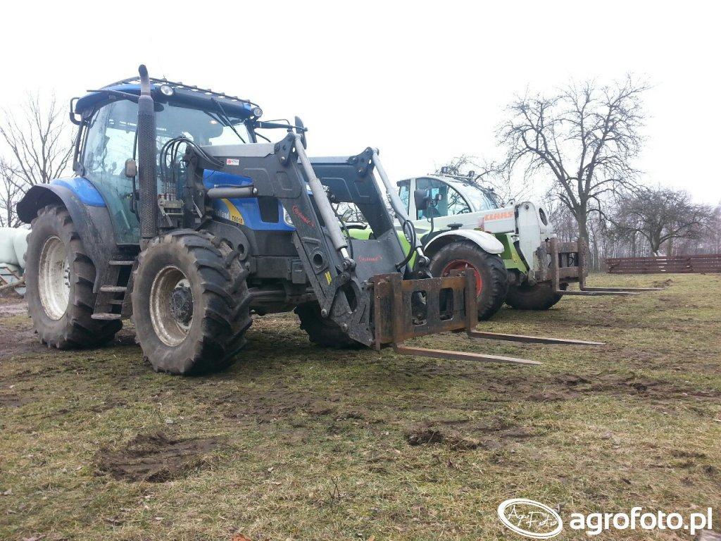 New Holland T6010 & Claas Targo K50