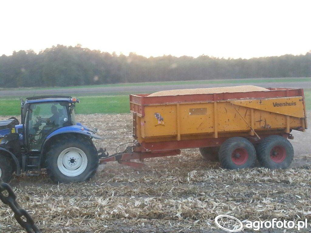 New Holland T6010 I przyczepa Veenhuis