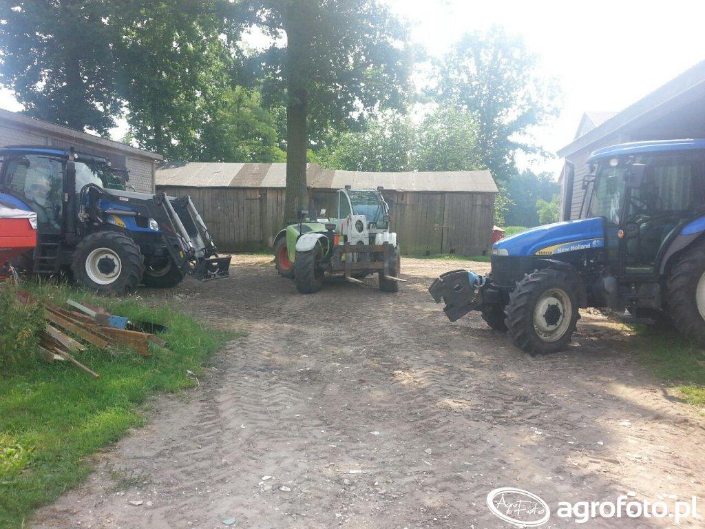 New Holland T6010 i TD5020 oraz Claas Targo K50