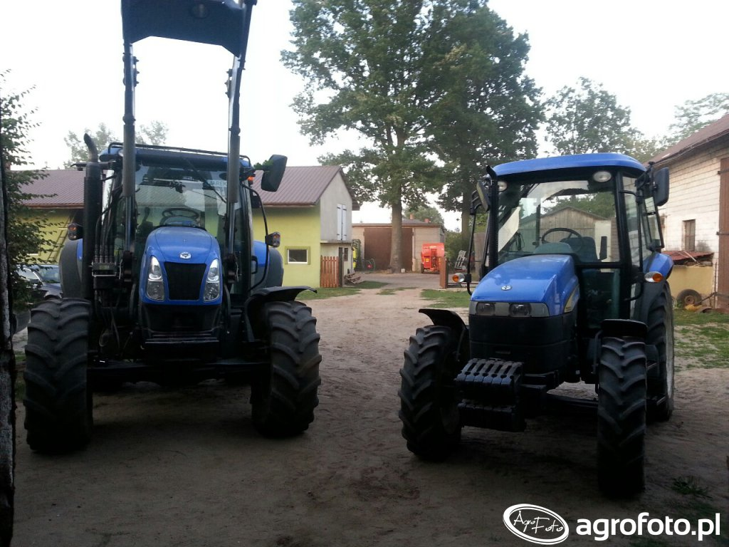 New Holland T6010 + New Holland TD5020