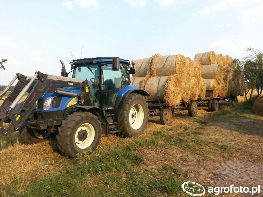 New Holland T6010 + przyczepy