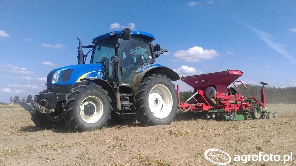 New Holland T6010 & Unia Kraj FS T Drive 1000/3