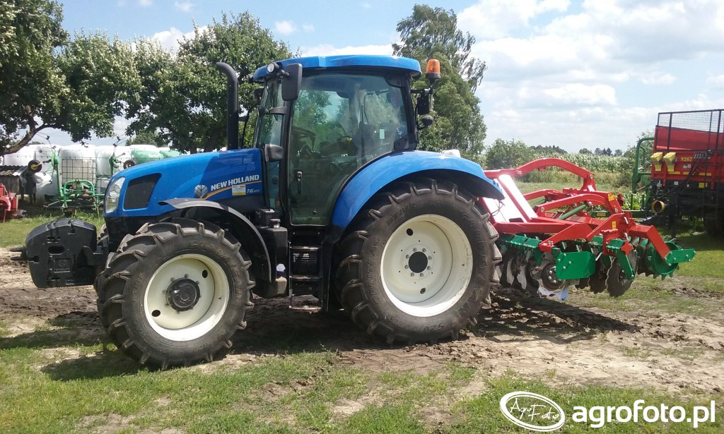 New Holland T6.120 + Agromasz