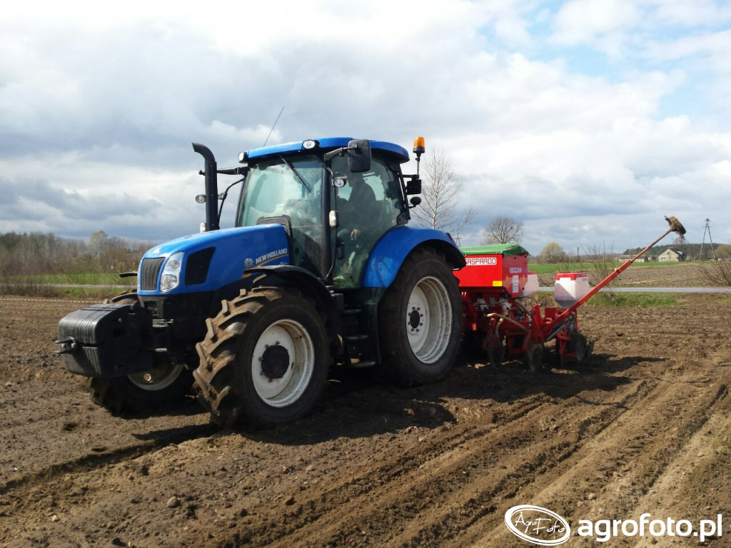 New holland t6.140 + gaspardo mte 6