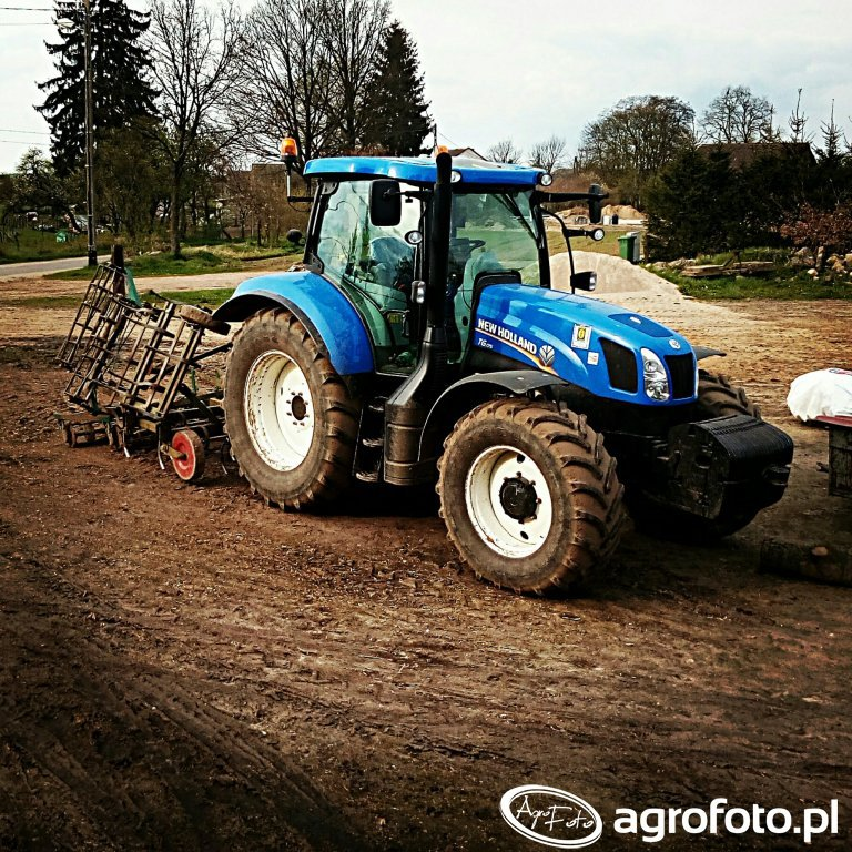 New Holland T6.175 + Fortschritt B231 - 5,20m