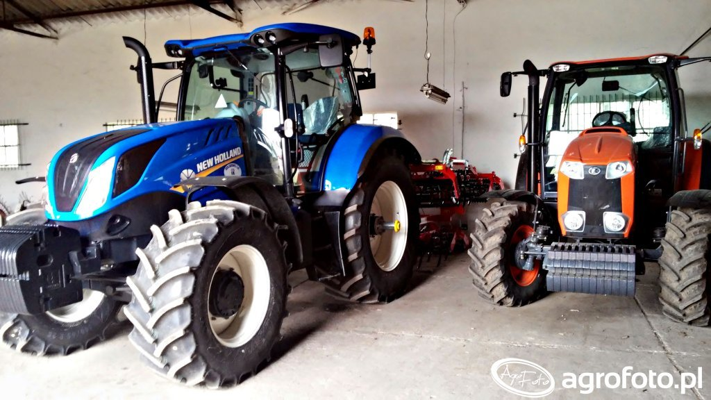 New Holland T6.175 & Kubota M100GX