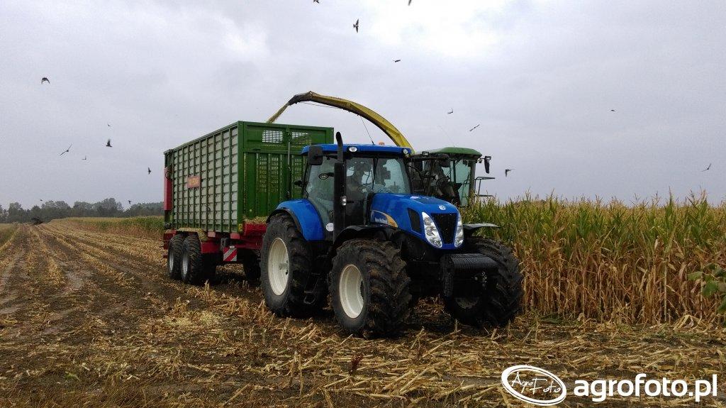 New Holland T7060 & Pronar T400