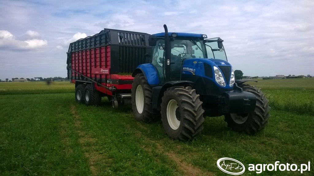 New Holland T7.200&kverneland 10055