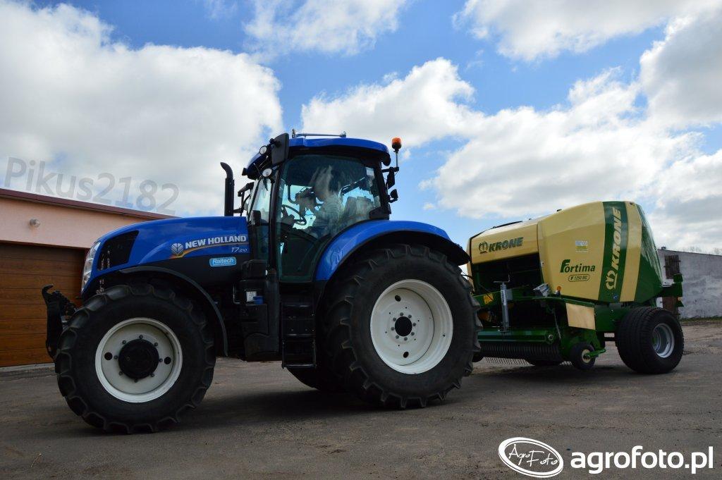 New Holland T7.210 & Krone Fortima F 1250 MC