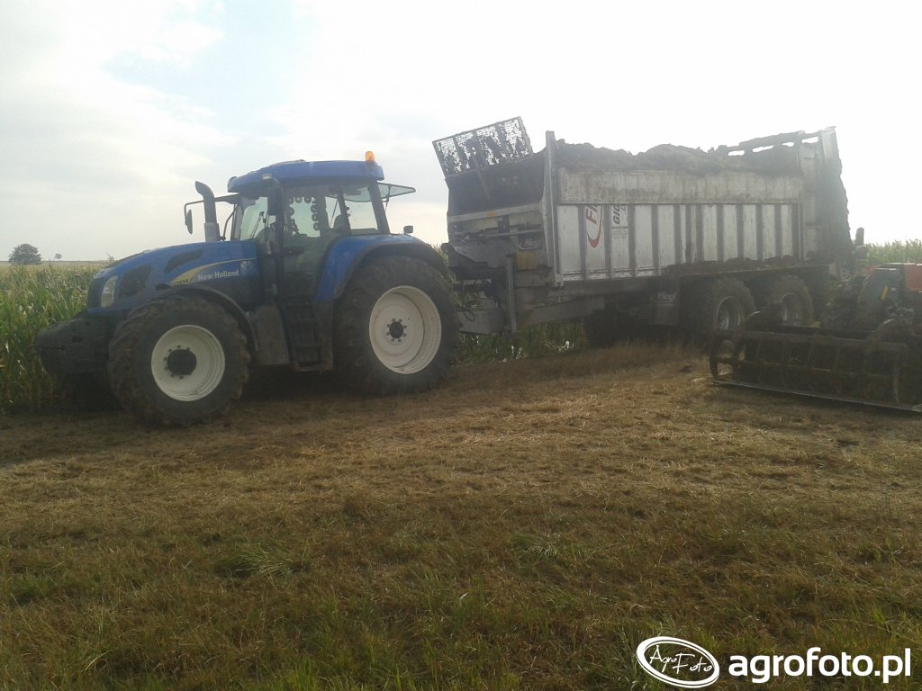 NEW HOLLAND T7550 & FLIEGL ASW 271