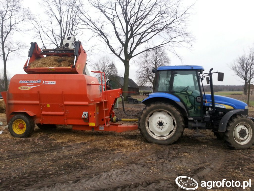 New Holland TD5020 & Paszowóz Seko