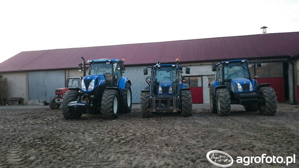 New Hollandy: od lewej T7 170, T5040, TL100A