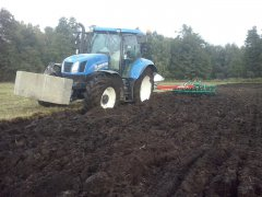 New holland  T6 165 + Kverneland ES 100 + PACKOMAT