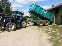 New Holland T6010 + Camara 12t