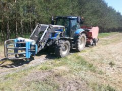 New Holland T6010 + presa