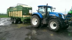 New Holland T7 200 i Krone AX 280 GD