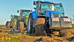 New Holland T7.220 & 2x Claas