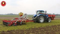 New Holland T7.250 + system uprawy pasowej (Vaderstad, Kuhn)