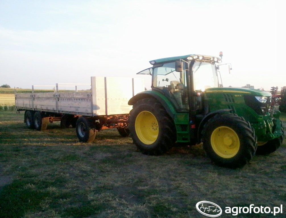 John Deere 6105R + Krone