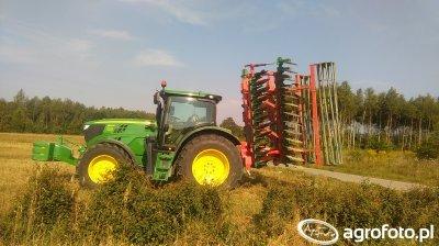 John Deere 6140R + Agro-Masz