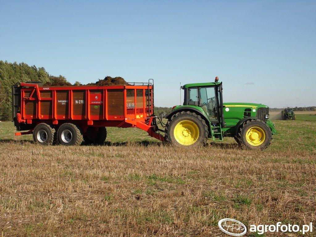 John Deere 6630 i Ursus N-270