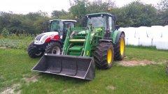 John Deere 6430 i Steyr Kompakt 4085