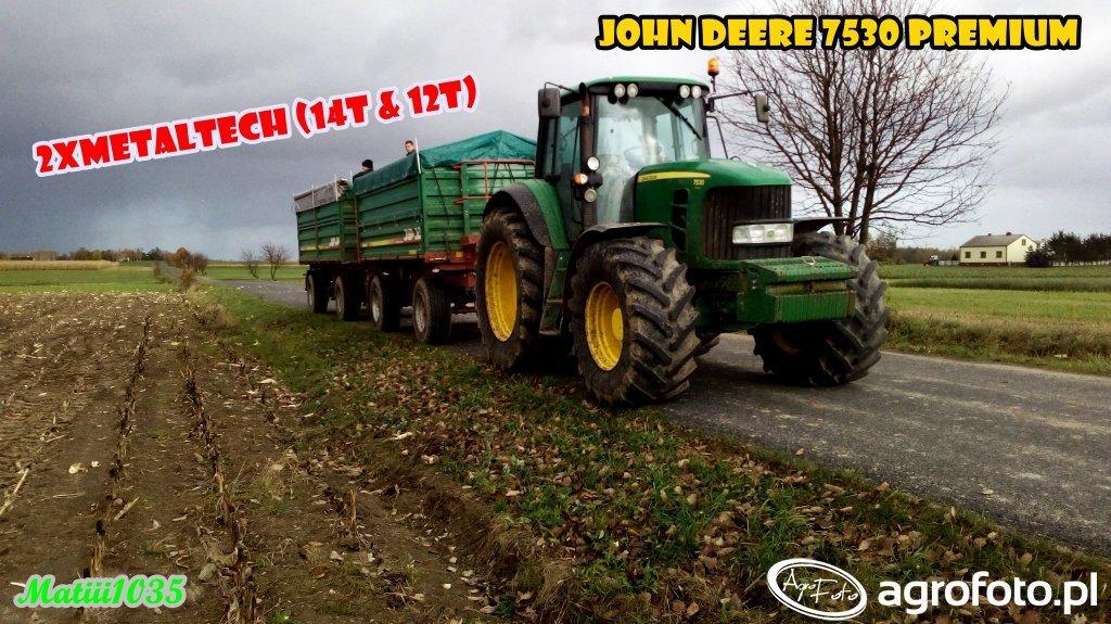 John Deere 7530 Premium w odbiorze kukurydzy na ziarno