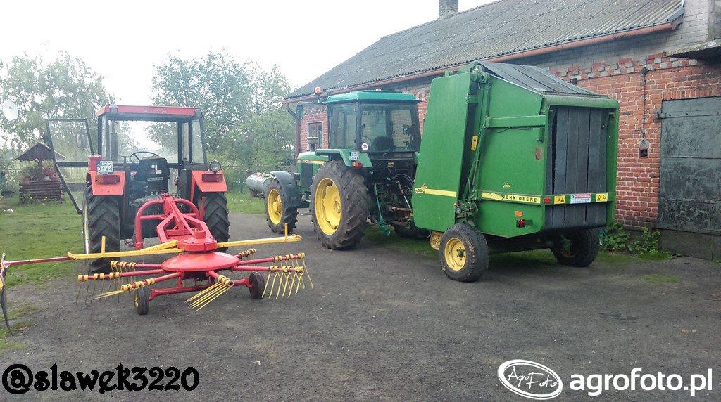JD 3040 + JD 550 & Ursus C360 + Fella