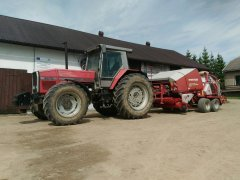 Massey Ferguson 3670 i Welger Double Action 220 Profi