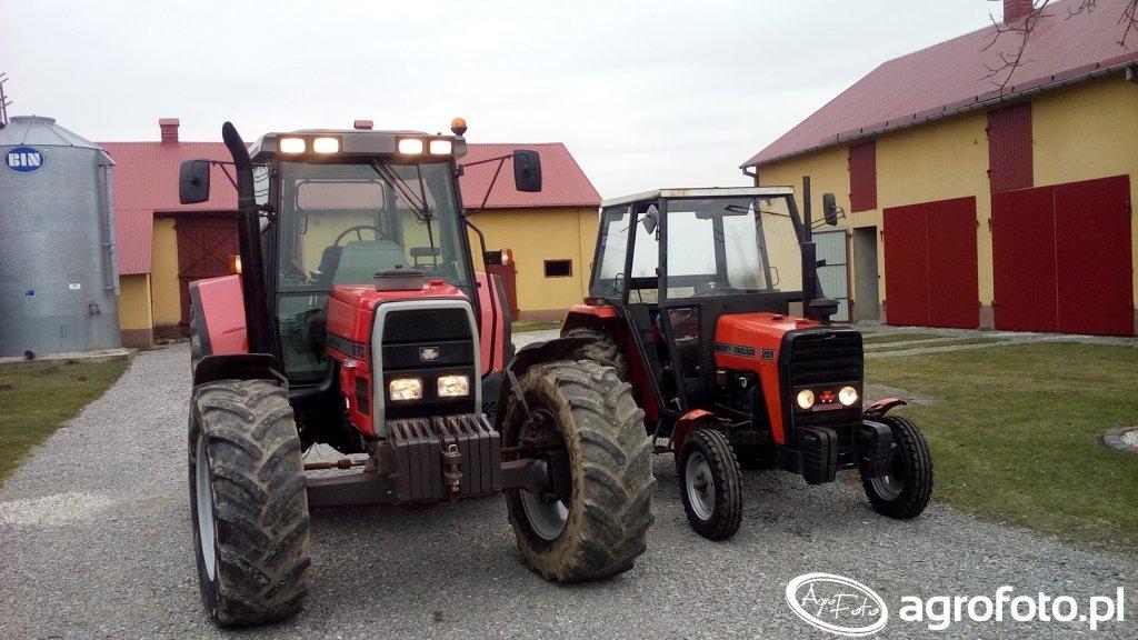 MF 6180 i Ursus 3512
