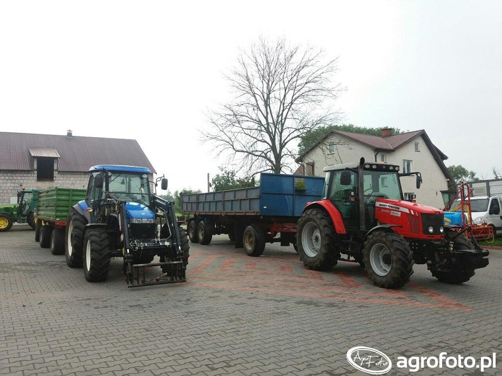 Massey Ferguson 5455 i New Holland TD 5040