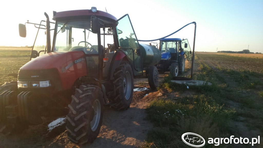 Case jx60 & New Holland td5010