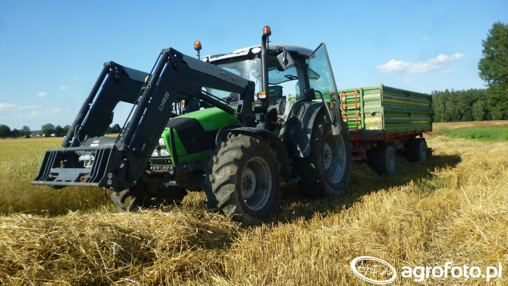 Deutz-Fahr Agrofarm 420 + Pronar T-672