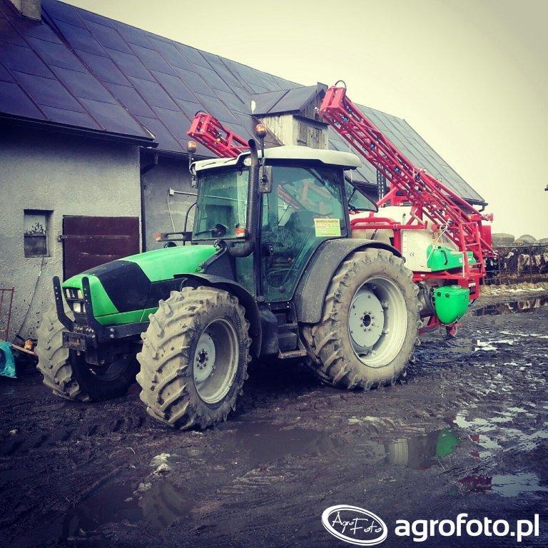 Deutz Fahr Agrofarm 430 TTV \u0026 Bury Perkoz Max 1300