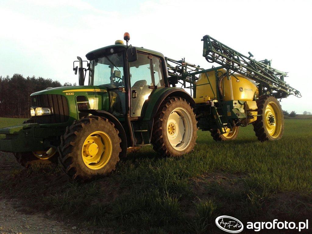 John Deere 6330 + John Deere M740i