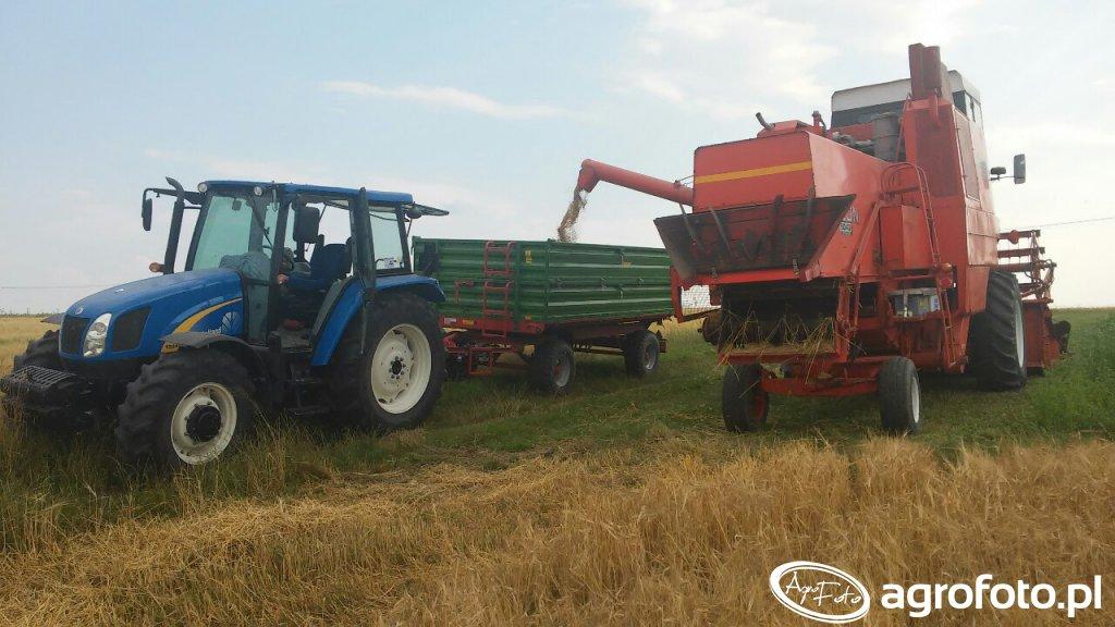 New holland t5040 i Bizon 5043