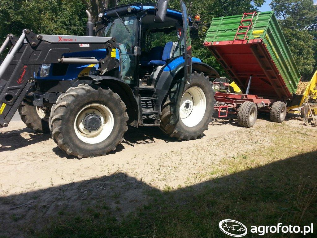 New Holland T6010 +  Pronar