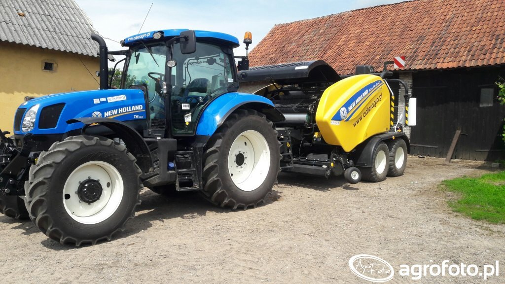 New Holland T6.165& New Holland  ROLL BALER 125 COMBI