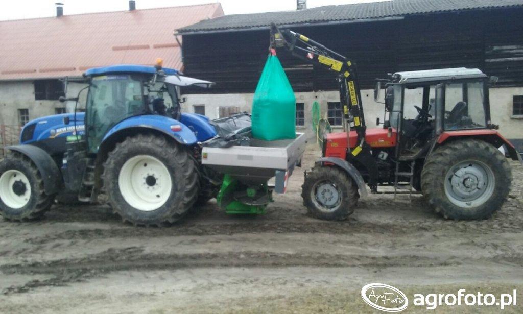 New Holland T7.170AC, Unia MXL2100, Belarus 952
