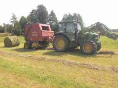 John Deere 5620 + New Holland 644