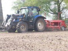New Holland T6010 +agregat uprawno-siewny