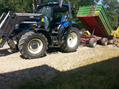 New Holland T6010 +  Pronar