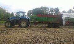 New Holland T6030 RC & Unia Tytan 10 plus
