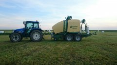 New holland tl 100a+krone comprima cf 155 xc