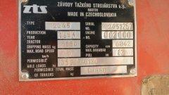 ZTS 12245 tabliczka znamionowa