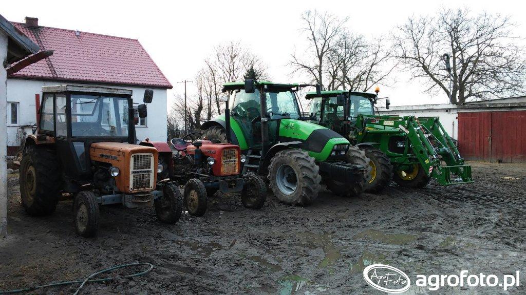 Ursus C-360 &Ursus C-330 & John Deere 5080r & Deutz-Fahr Agrotron k110
