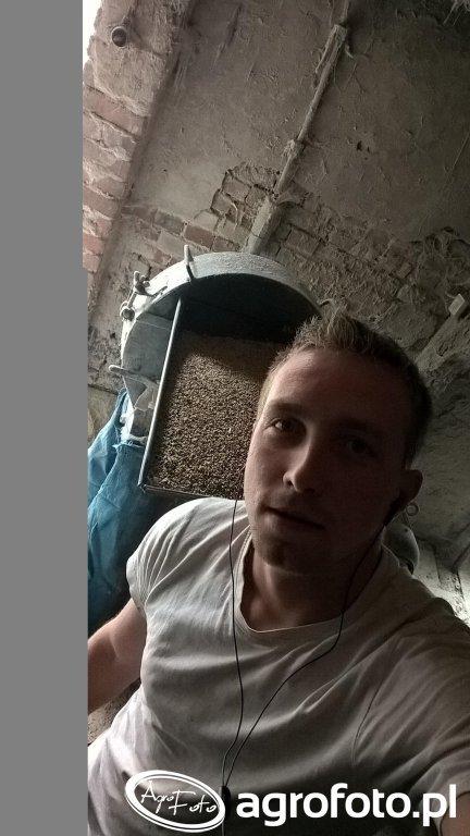 Selfie przy śrutowaniu :D
