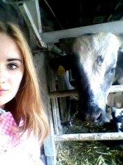 Selfie z byczkiem